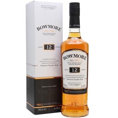 波摩12年单一麦芽苏格兰威士忌 Bowmore Aged 12 Years Islay Single Malt Scotch Whisky 700ml(新旧包装随机发货)