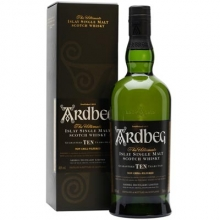 阿德贝哥10年单一麦芽苏格兰威士忌 Ardbeg Guaranteed Ten Years Old Islay Single Malt Scotch Whisky 700ml