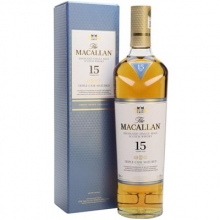 麦卡伦15年黄金三桶单一麦芽苏格兰威士忌 Macallan 15YO Fine Oak Triple Cask Matured Highland Single Malt Scotch Whisky 700ml