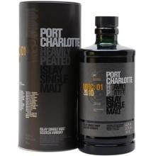 布赫拉迪波夏2010红酒桶单一麦芽苏格兰威士忌 Bruichladdich Port Charlotte MRC:01 2010 Heavily Peated Single Malt Scotch Whisky 700ml