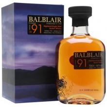 巴布莱尔1991年第三版单一麦芽苏格兰威士忌 Balblair Vintage 1991 3rd Release Highland Single Malt Scotch Whisky 700ml