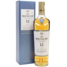 麦卡伦12年黄金三桶单一麦芽苏格兰威士忌 Macallan 12YO Fine Oak Triple Cask Matured Highland Single Malt Scotch Whisky 700ml