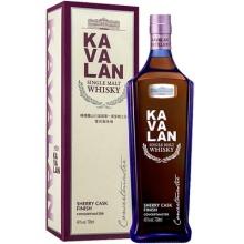 【限时特惠】噶玛兰山川首席雪莉风味桶单一麦芽威士忌 Kavalan Concertmaster Sherry Cask Finish Single Malt Whisky 700ml