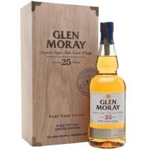 格兰莫雷25年波特桶单一麦芽苏格兰威士忌 Glen Moray 25 Year Old Port Cask Finish Speyside Single Malt Scotch Whisky 700ml