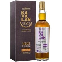 噶玛兰经典独奏烟熏泥煤原酒单一麦芽威士忌 Kavalan Solist Peated Cask Strength Single Malt Whisky 700ml